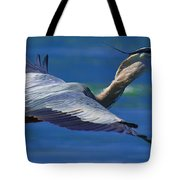 Gliding Great Blue Heron Tote Bag