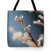 Glistening Ice Crystals Tote Bag