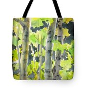 Glittering Poplars Tote Bag
