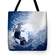 Globe With Fiber Optics Tote Bag