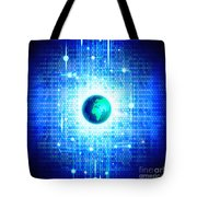 Globe With Technology Background Tote Bag