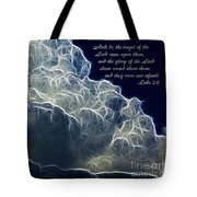 Glory Of The Lord Tote Bag