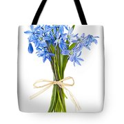 Blue Wildflower Bouquet Tote Bag