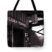 Glory Tunnel Mine Entrance In Calico California Tote Bag by Susanne Van Hulst