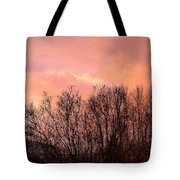 Glow Of A Winter Sunset Tote Bag