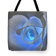 Glowing Blue Rose Tote Bag
