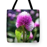 Glowing Globe Amaranth Tote Bag