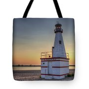 Glowing In The Background Tote Bag