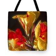 Glowing Iris Tote Bag