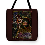 Glowing Mask With Leaves Tote Bag