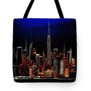 Glowing New York Tote Bag