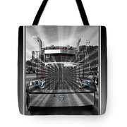 Glowing Pete Abstract Tote Bag