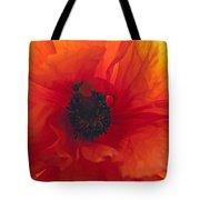 Glowing Poppy Tote Bag