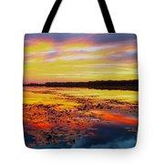Glowing Skies Over Crews Lake Tote Bag