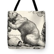 Glyptodon And Megatherium, Extinct Fauna Tote Bag