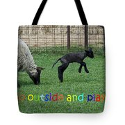 Go Outside And Play Rainbow Tote Bag