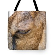 Goat Lashes Tote Bag