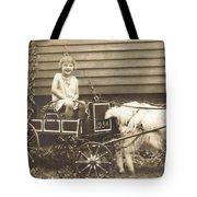 Goat Wagon Tote Bag