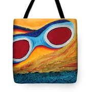 Goggles In The Sand Tote Bag