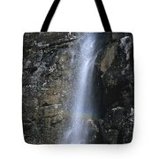 Going To The Sun Road Waterfall Tote Bag
