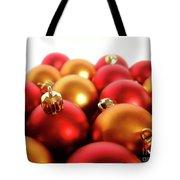 Gold And Red Xmas Balls Tote Bag