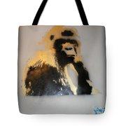 Gold Back Gorilla Tote Bag