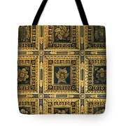 Gold Cathedral Ceiling Italy Tote Bag