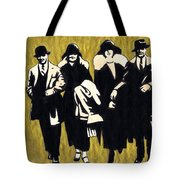 Gold Couples Tote Bag