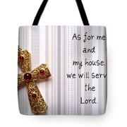 Gold Cross Tote Bag by Cynthia Amaral