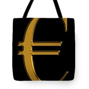 Gold Euro  Tote Bag