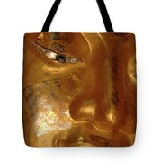 Gold Face Of Buddha Tote Bag
