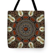Gold Flower Cookie Tote Bag