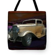 Gold Hot Rod Tote Bag