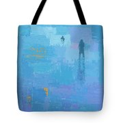 Gold In Blue Tote Bag
