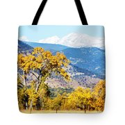 Gold Leaves Tote Bag