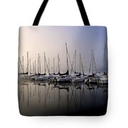 Gold N Blue Sailboats Too Tote Bag