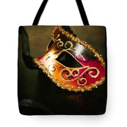 Gold Scroll Masquerade Mask Tote Bag