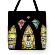 Gold Stained Glass Window Tote Bag