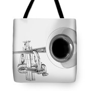 Gold Trumpet Isolated On White Tote Bag