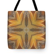 Golden Abstarct Energy Tote Bag