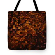 Golden Abstract Tote Bag