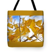Golden Autumn Tote Bag by Kaye Menner