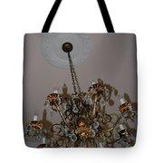 Golden Chandelier Tote Bag