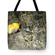 Golden Clear Ripples Tote Bag