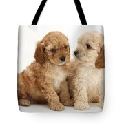 Golden Cockerpoo Puppies Tote Bag