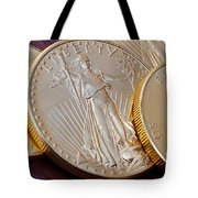 Golden Coins II Tote Bag