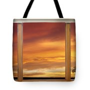 Golden Country Sunrise Window View Tote Bag by James BO  Insogna