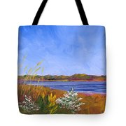 Golden Delaware River Tote Bag