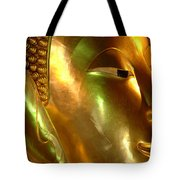 Golden Face Of Buddha Tote Bag