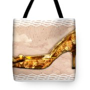 Golden Floral Royalty Shoe Tote Bag